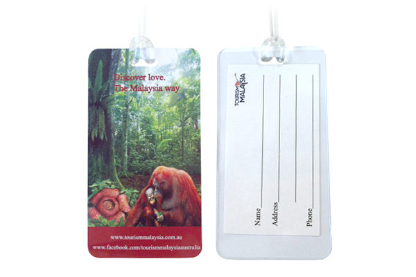 Luggage tags with inserts
