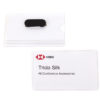 Magnetic business card tag